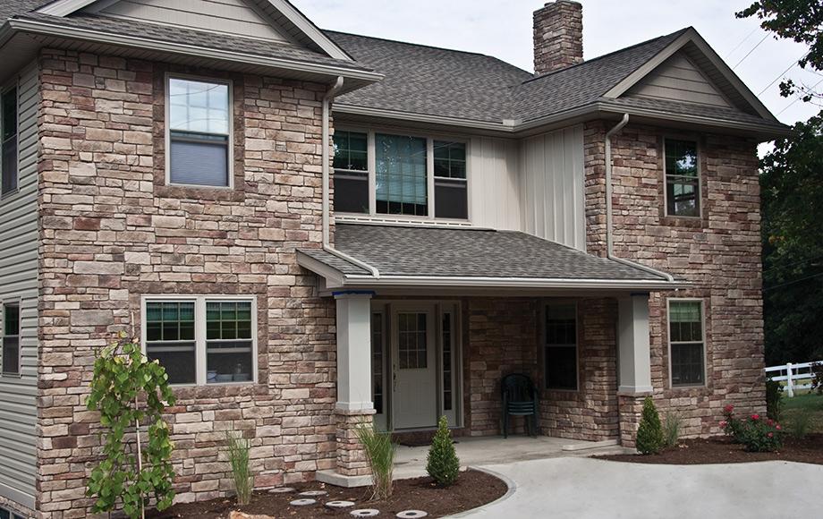 Weatherledge torino peoria brick company central for Stone veneer vs brick cost